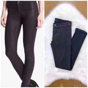 {J BRAND} Opali Plum Coated Super Skinny Jeans